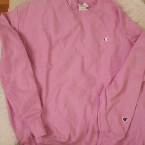 Champion Reverse Weave Pink Sweatshirt